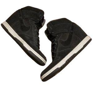 Nike Dunk Sky Hi Suede Black 528899 014 Womens 8.5